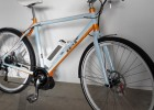 Ebike S003 - Hellblau-Orange Glanzlack GULF-Look Trekking